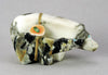 Serpentine & Leopard Marble Bear Pair