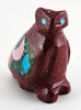 Pipestone Owl With Inlaid Owlette