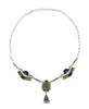 Gaspeite & Sugilite Cluster Work Necklace