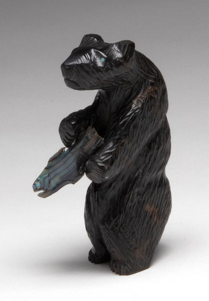 Shaggy Marble Bear With An Abalone FIsh