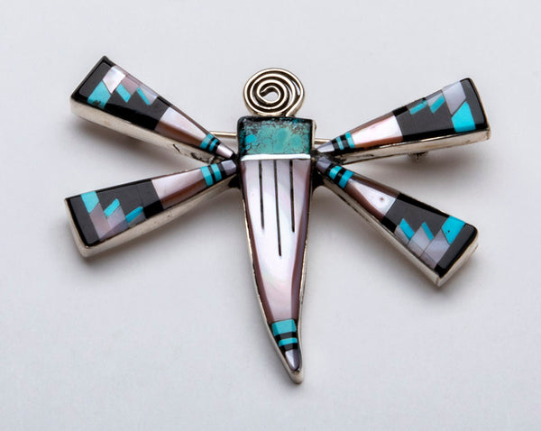 Delicate Inlaid Dragonfly Pin