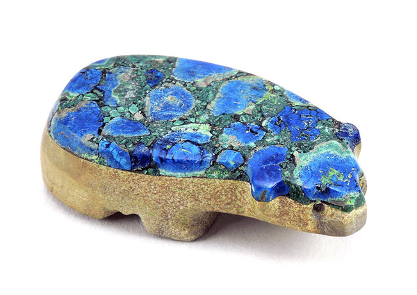 Zuni Azurite & Zuni Travertine Badger