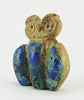 Zuni Azurite & Zuni Travertine Owl