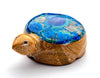 Zuni Azurite & Zuni Travertine Reptile