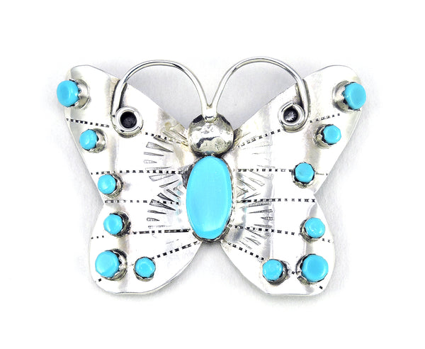 Butterfly Pin Of Sleeping Beauty Turquoise