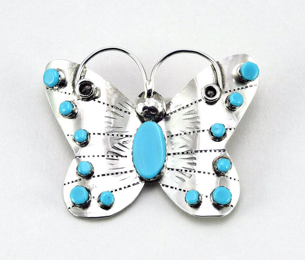 Sleeping Beauty Turquoise Butterfly Pin