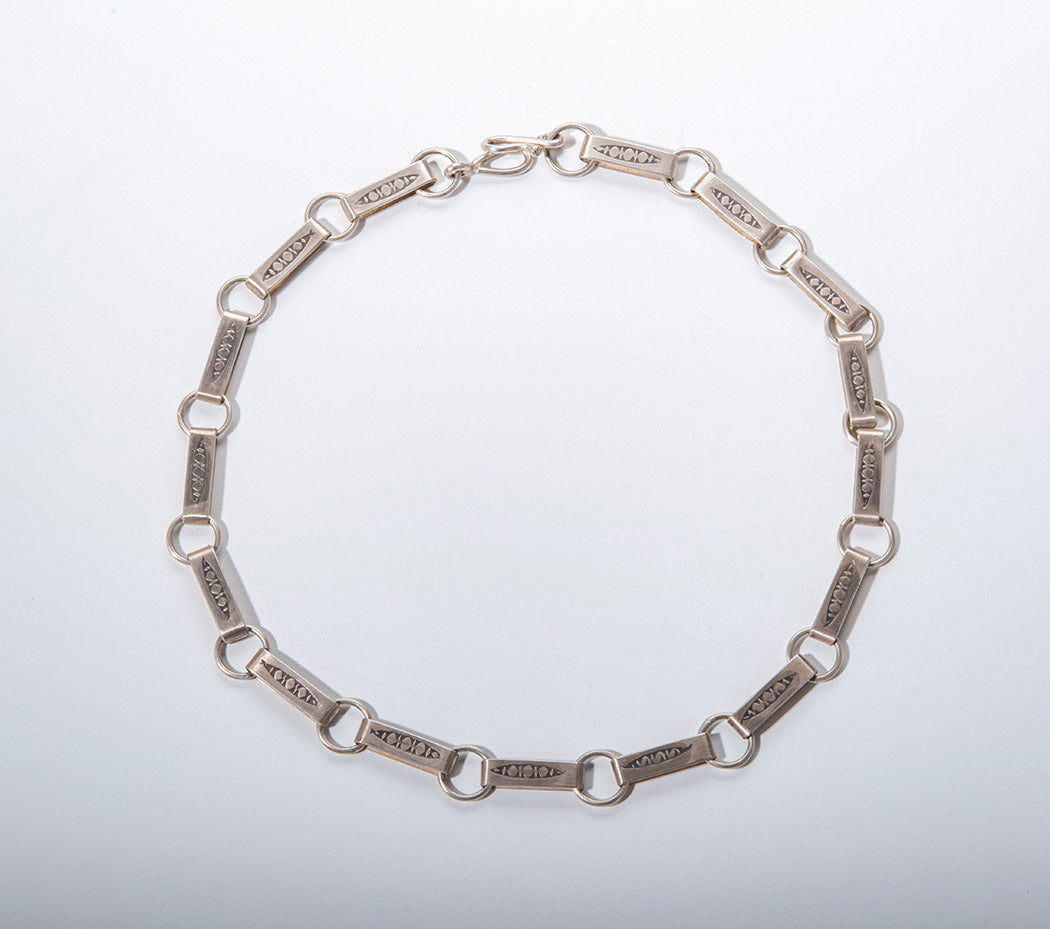 Hand Fabricated Reversible Link Necklace