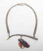 "Sterling Silver, 18K Gold, Sugilite & Red Coral ""Planting Songs"" Necklace"