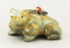 Lighthearted Zuni Travertine Bear