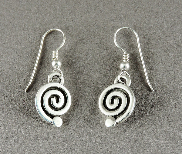 "Sterling Silver ""Journey Of Life"" Dangle Earrings"