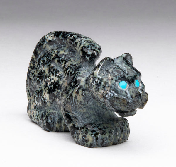 Leisurely Leopard Of Serpentine With Augite