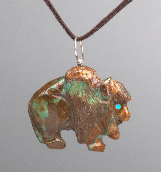 Reversible Bison Pendant