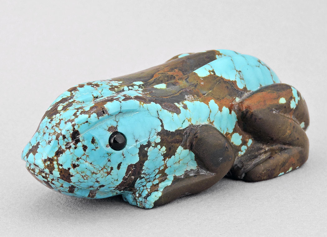 Spotted #8 Turquoise Frog