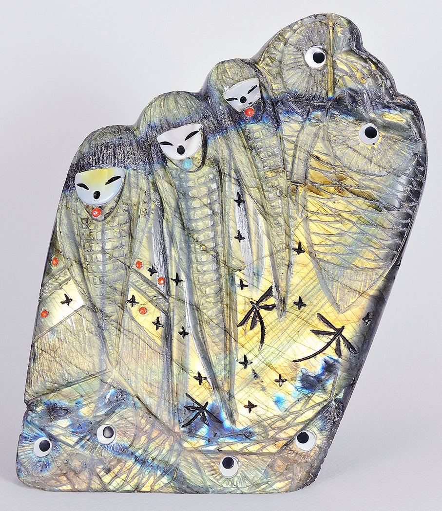 Corn Maiden Choir With Owls Of Labradorite