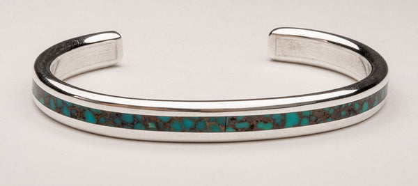 Kingman Turquoise Channel Inlay Cuff Bracelet