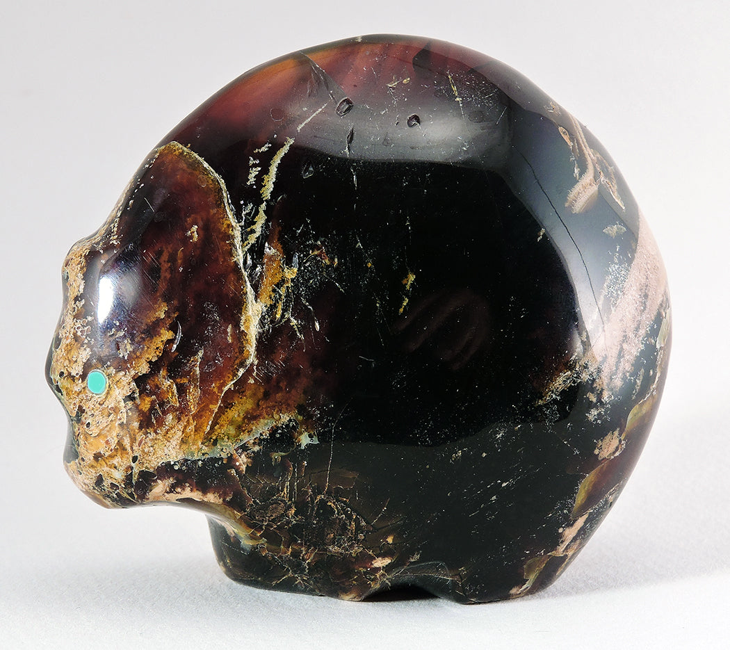 Amber Bear With Sunface Symbol Keshi The Zuni Connection