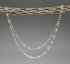 Long Basket Weave Link Necklace Of Sterling Silver