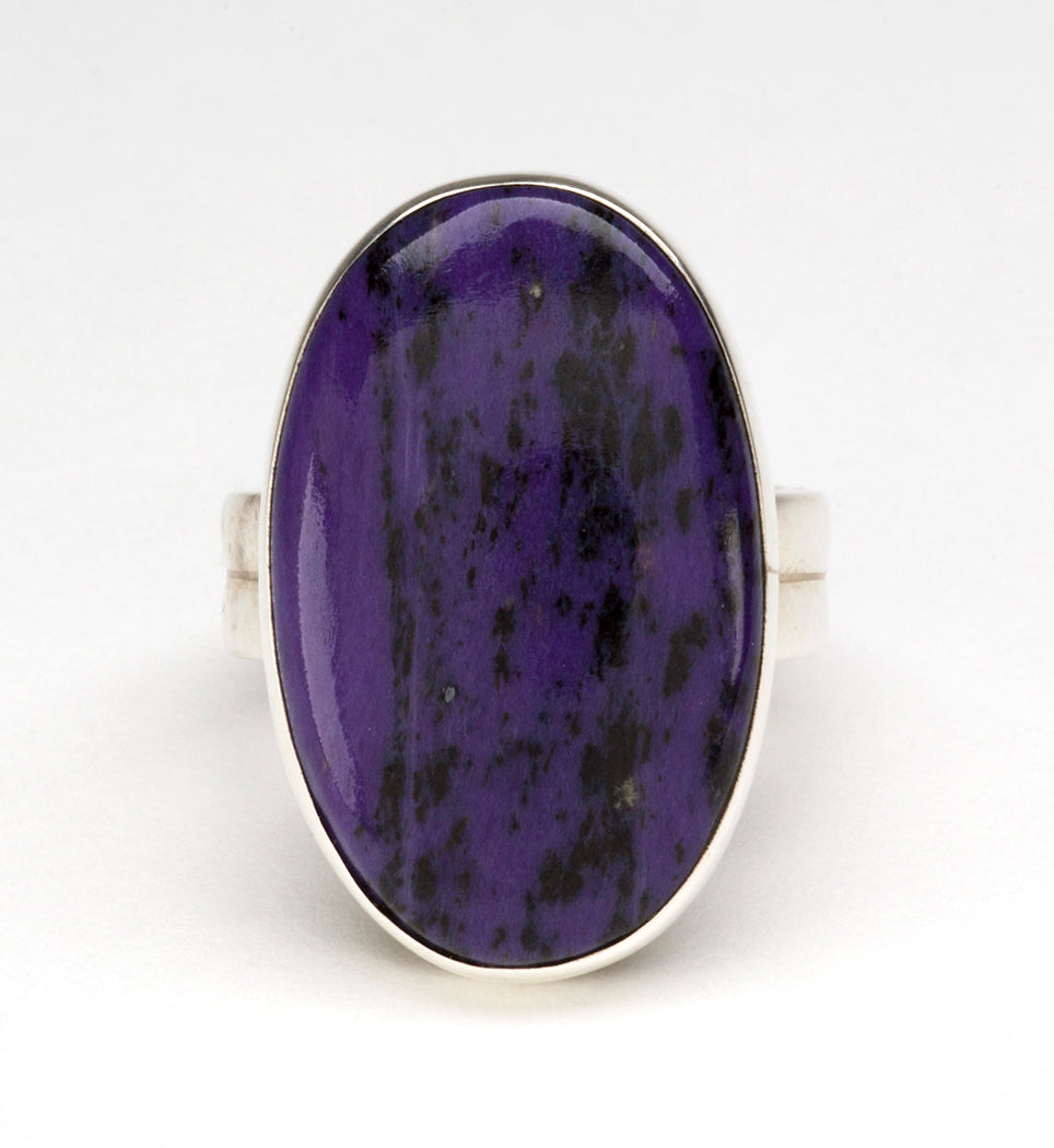 Sterling Silver & Charoite Ring