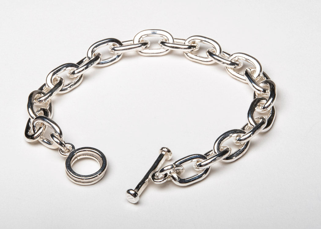 Simply Beautiful Sterling Silver Link Bracelet