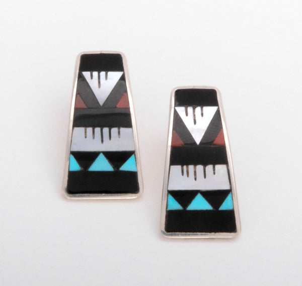 Rain Is Coming Inlaid Earrings