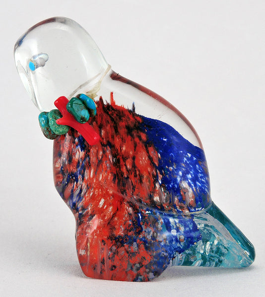 Vibrantly Colored Glass Owl