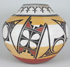 Medium Sized Olla Jar with Abstracted Bird and Tablita Designs