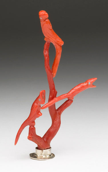 Natural Branch Red Coral Bird Gathering