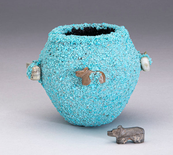 Small Fetish Pot With Bears