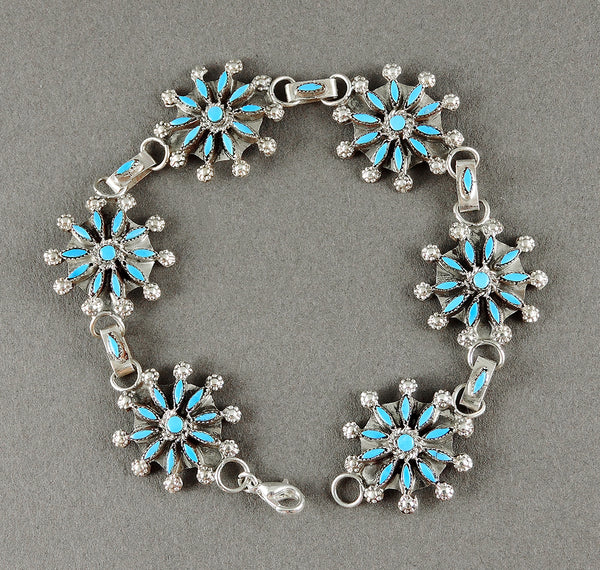 Sleeping Beauty Turquoise Petit Point Link Bracelet