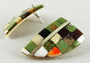 Exquisite Multi Material Mosaic Earrings