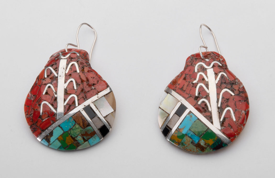 Mosaic Growing Corn Earrings