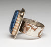 Denim Lapis & Mokume-Gane Ring
