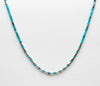 Sleeping Beauty Turquoise & Sterling Silver Heishe Necklace