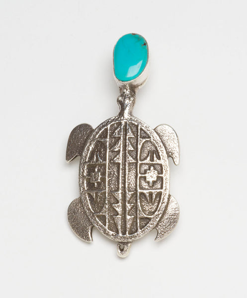 Tufa Turtle With Kingman Turquoise