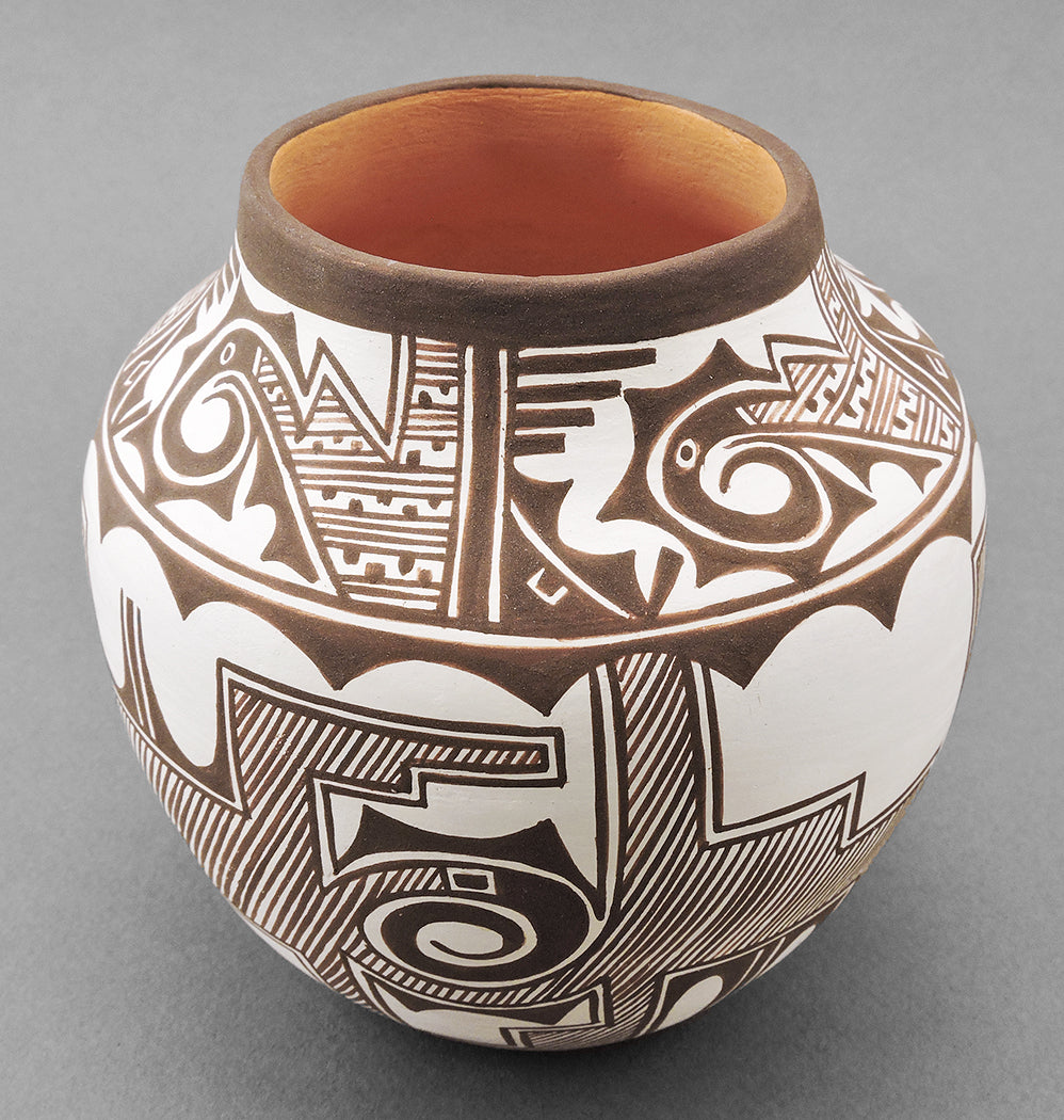 Geometric Rainbird Pot