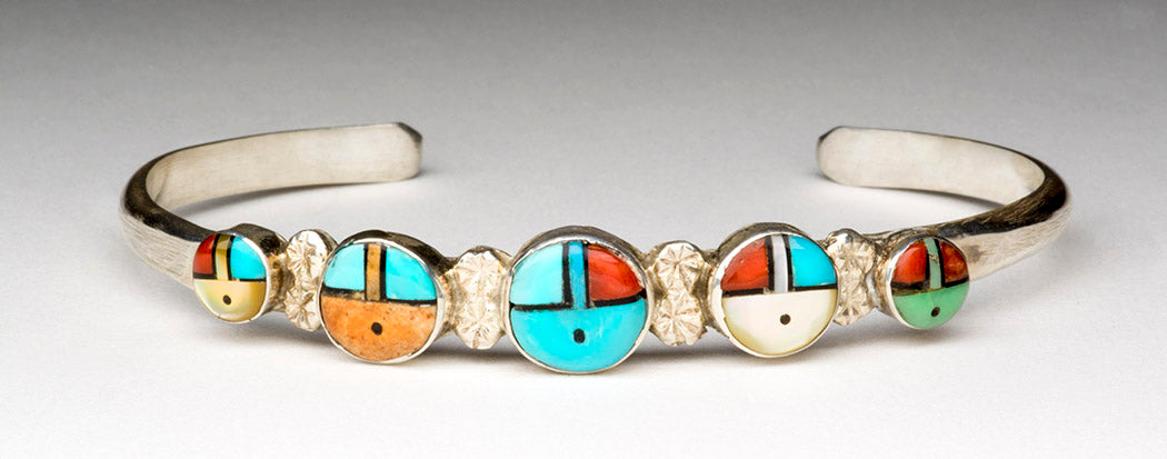 """5 Nations"" Sunface Cuff Bracelet"