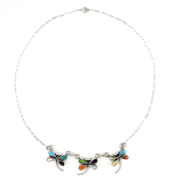 Cluster Work Dragonfly Necklace