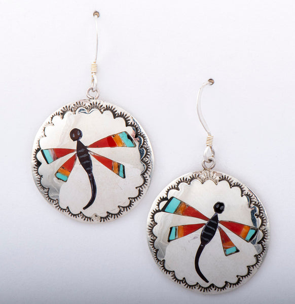 Painted With Stone Dragonfly Earrings