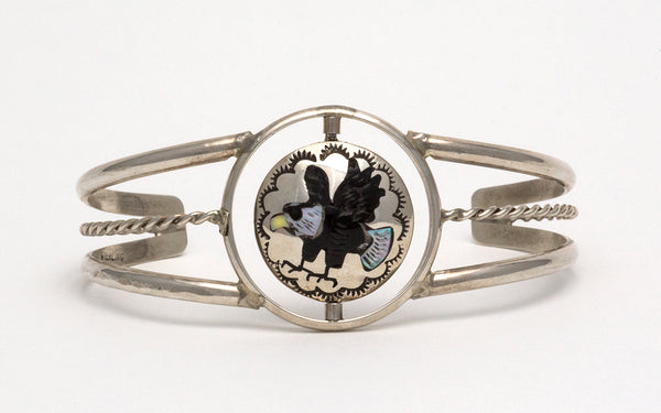 "An Eagle & Hummingbird ""Spinner"" Cuff Bracelet"