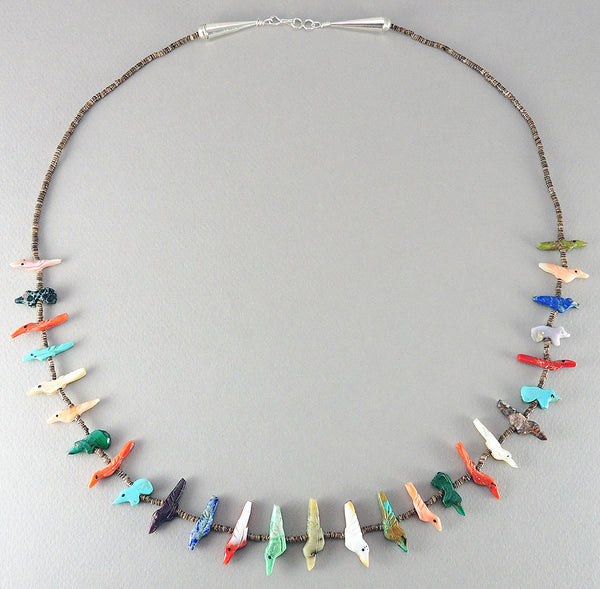 Birds & Bears Single Strand Fetish Necklace