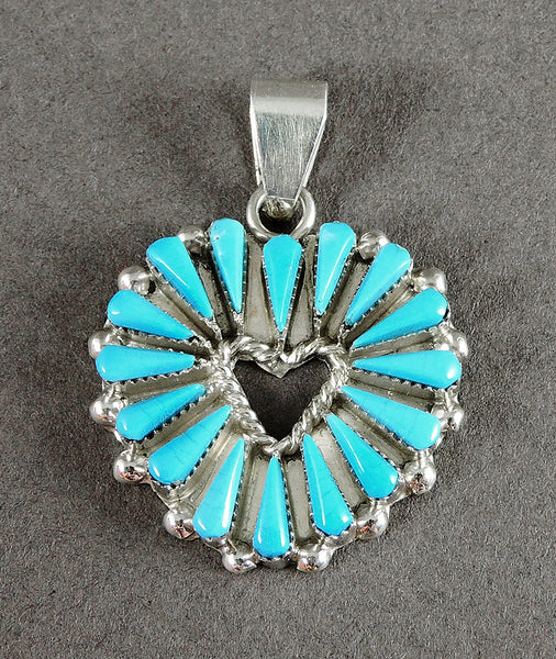 Sleeping Beauty Turquoise Heart Pendant