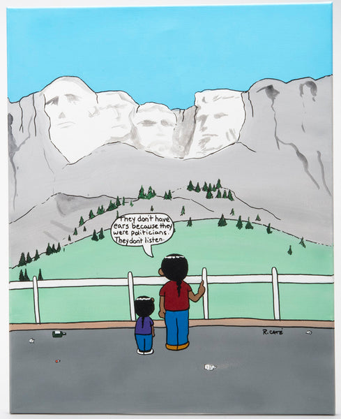 Mount Rushmore Original Acrylic Painting