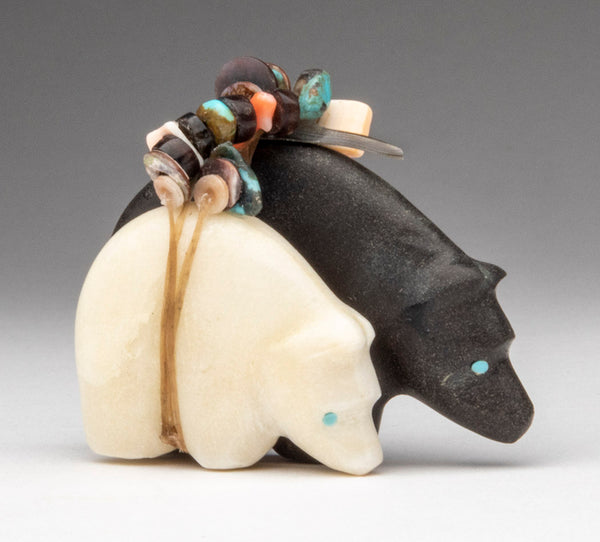 A Slate & Alabaster Bear Pair