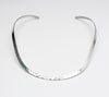 Sterling Silver Collar With Hammered Finish