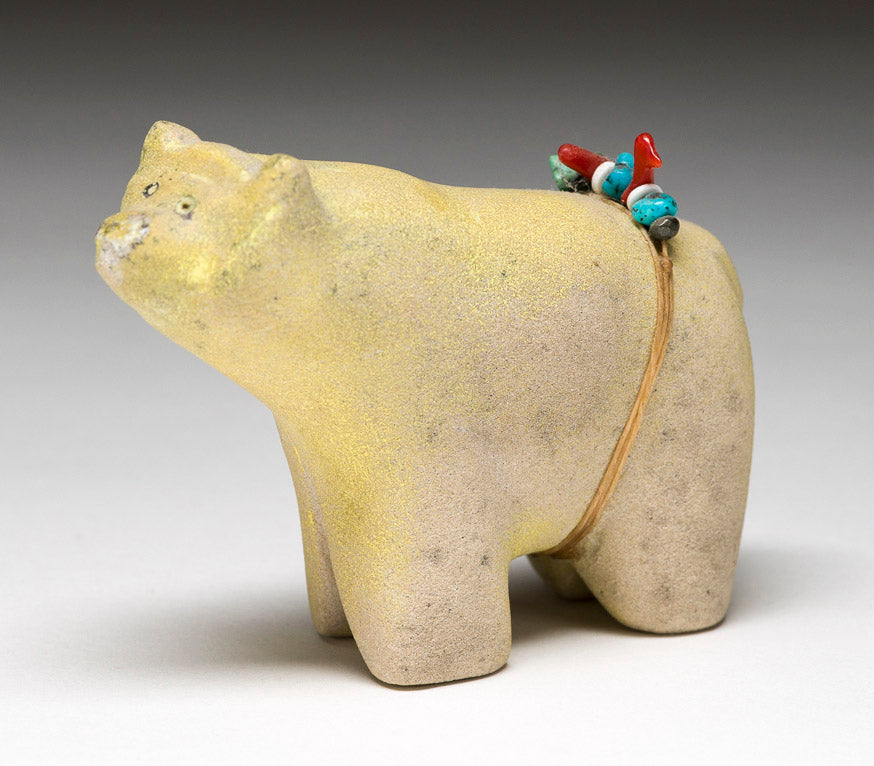 Zuni Stone Bear With Healing Intentions By Bobby Shack