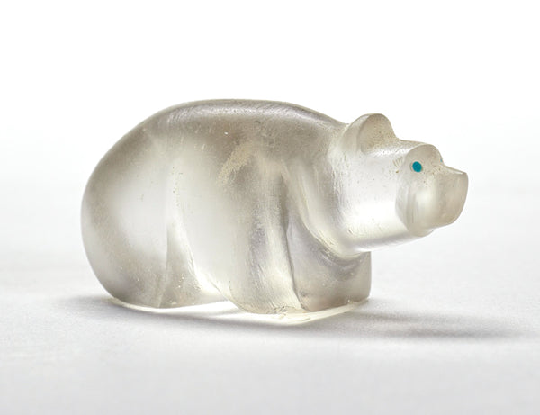 Little Glass Bear, Filled With Light By Gibbs Othole