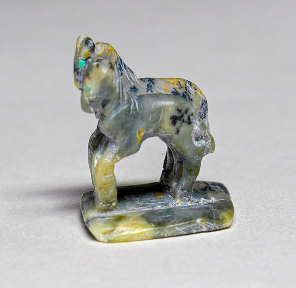 Tiny Pair of Handmade Horses, One Stone, No Machinery By Hubert Pincion(d)