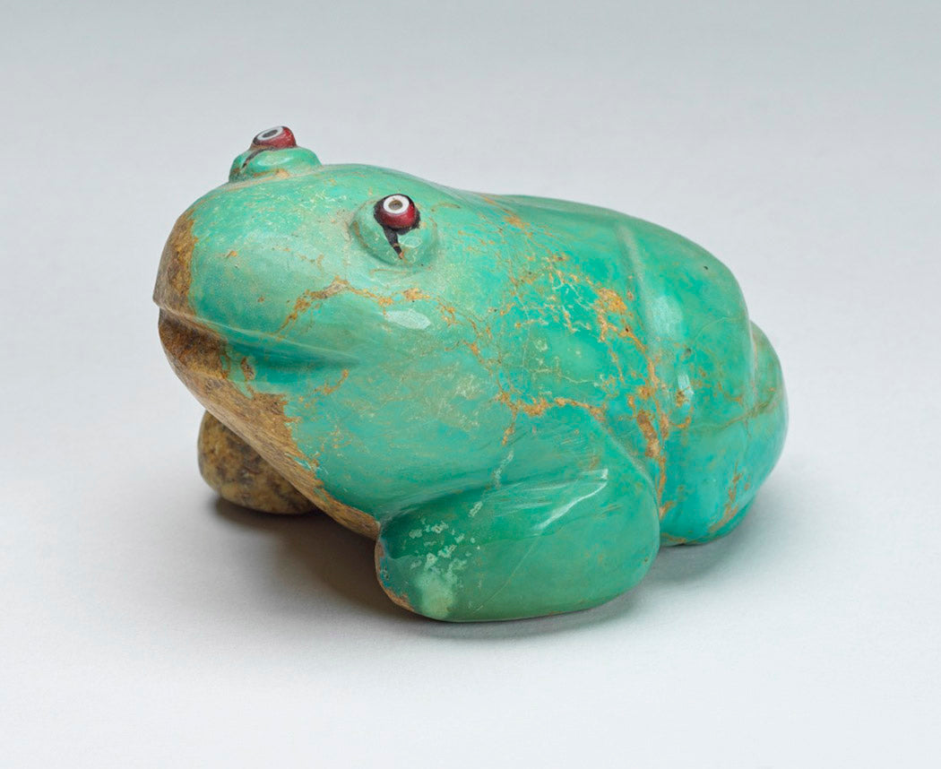 Large Vintage Turquoise with Matrix Frog
