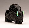 Black Marble Sgraffito Bison