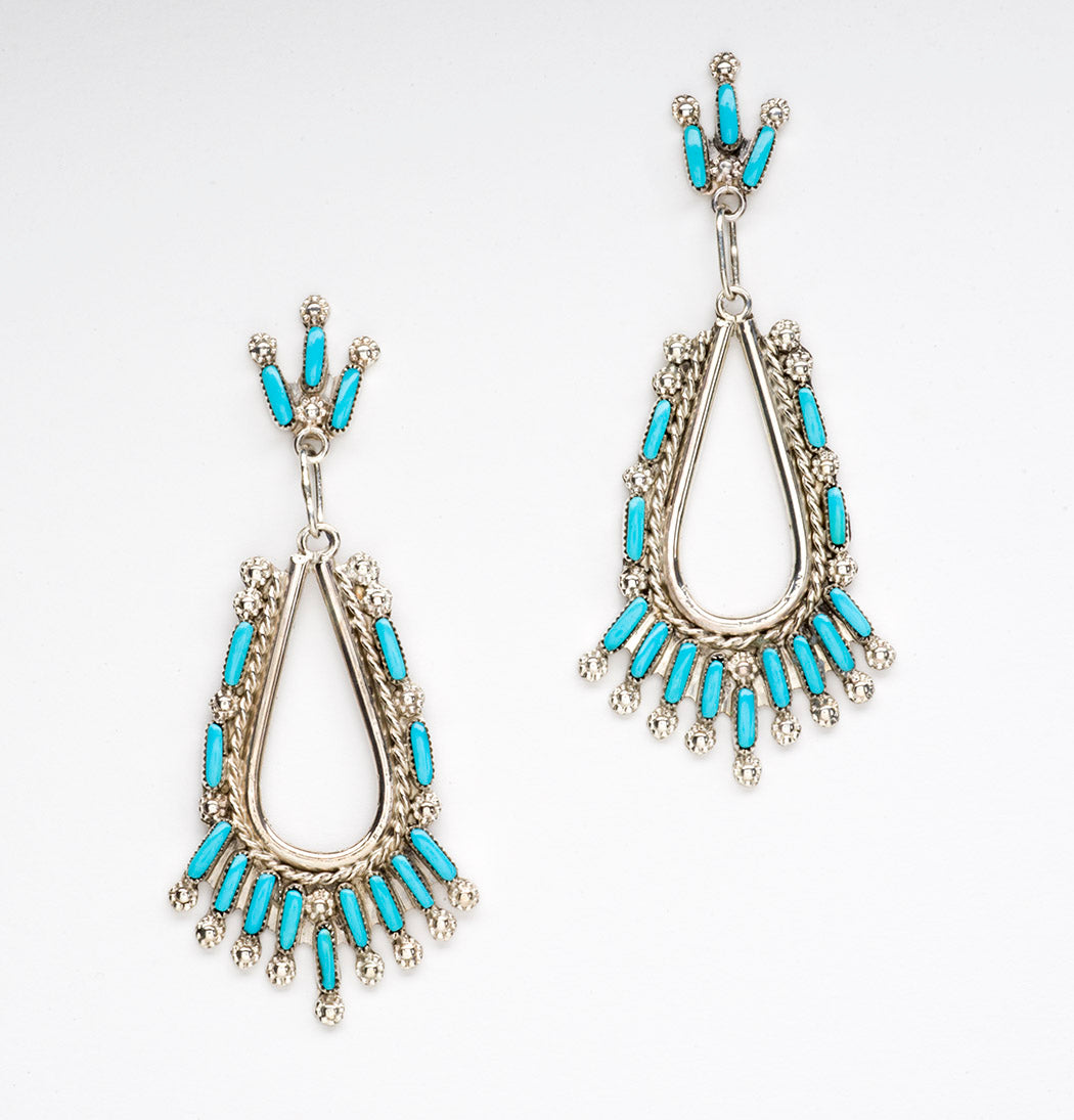 Zuni Petit Point Dangle Earrings